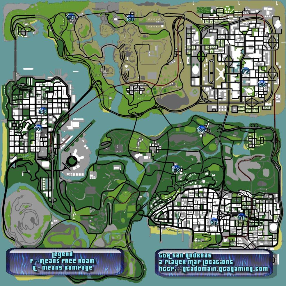 San Andreas 2 Players Locations Interactive Map at The GTA ...