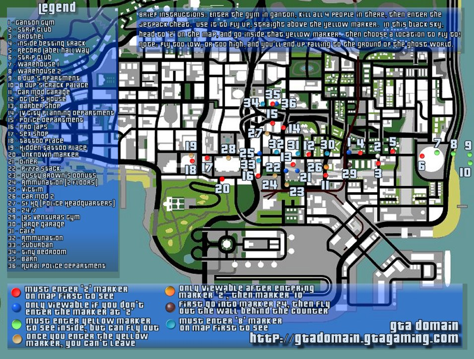 San Andreas Hidden Interiors Interactive Map at The GTA Domain on gta 4 map, vice city map, andreas fault map, san miguel map, west coast fault line map, doom map, san andres map, gta 2 map, san gorgonio map, gta 5 grove street map, san lorenzo valley map, liberty city map, gta 1 map, gta 3 map, calaveras county map, saints row map, gta v map, the golden compass map, city of san antonio map, grand theft auto iv map,